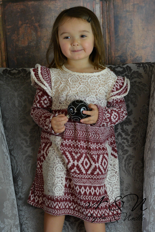 SNOW ANGEL - Cinnamon Girls Vintage Sweater Dress