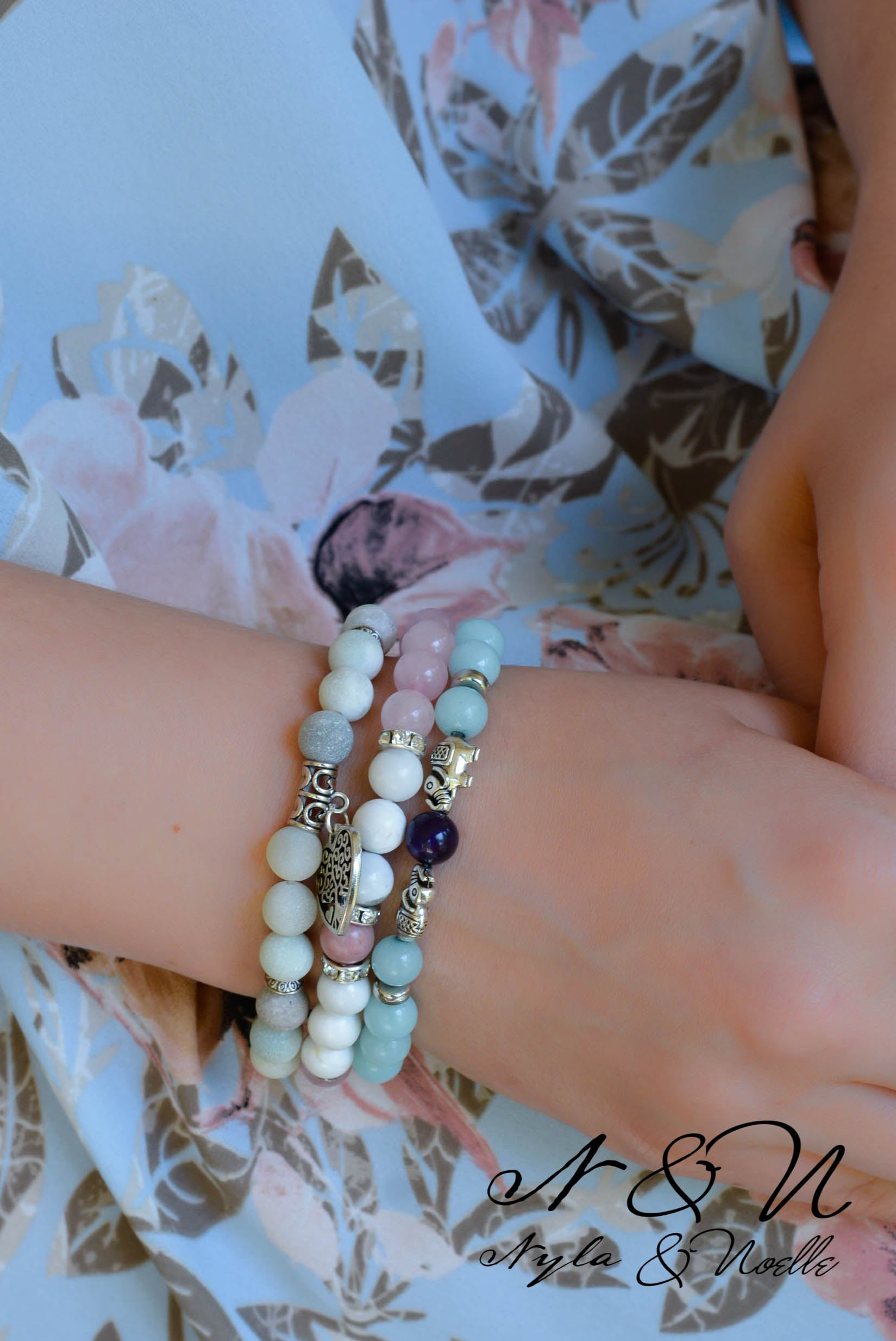 Create - A- Stack LIFE BLOOMS ETERNAL - Natural Stone Bracelet