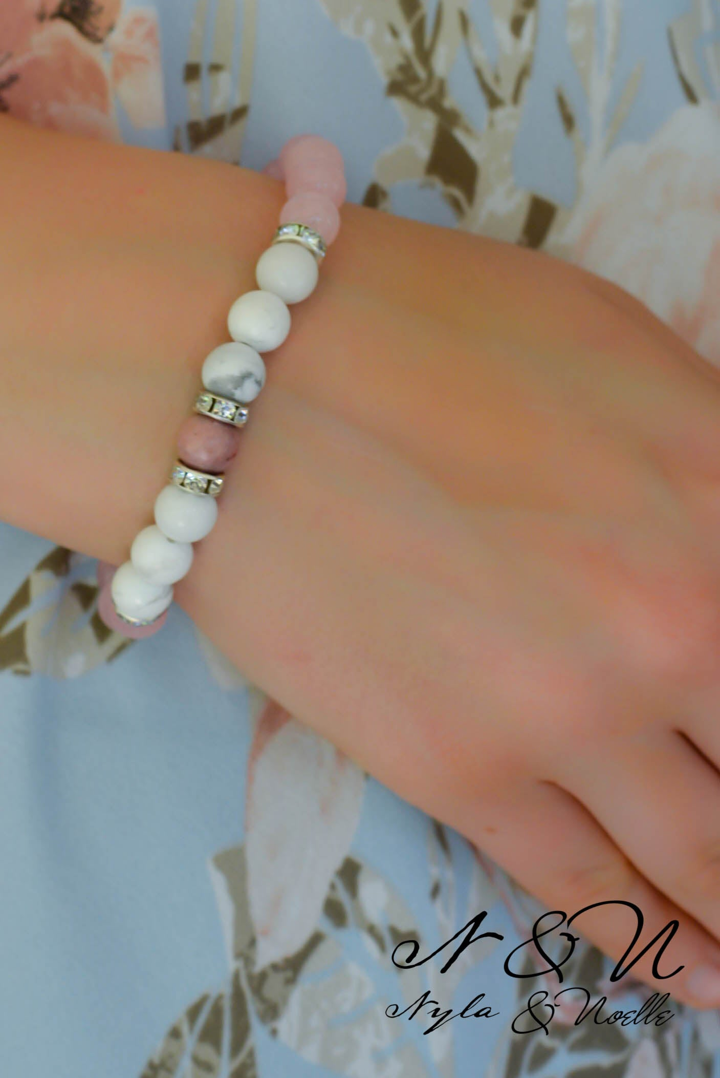 Create - A- Stack PINK CLOUDS - Natural Stone Bracelet