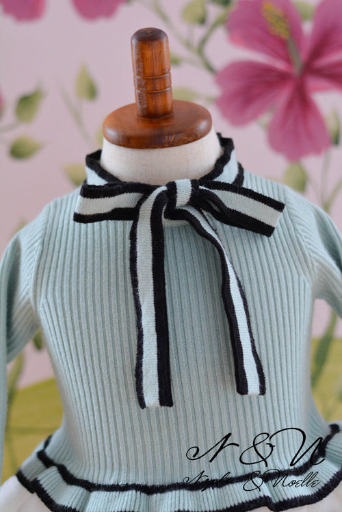 MINT SMOOTHIE- Girls Mint Sweater Knit Tunic