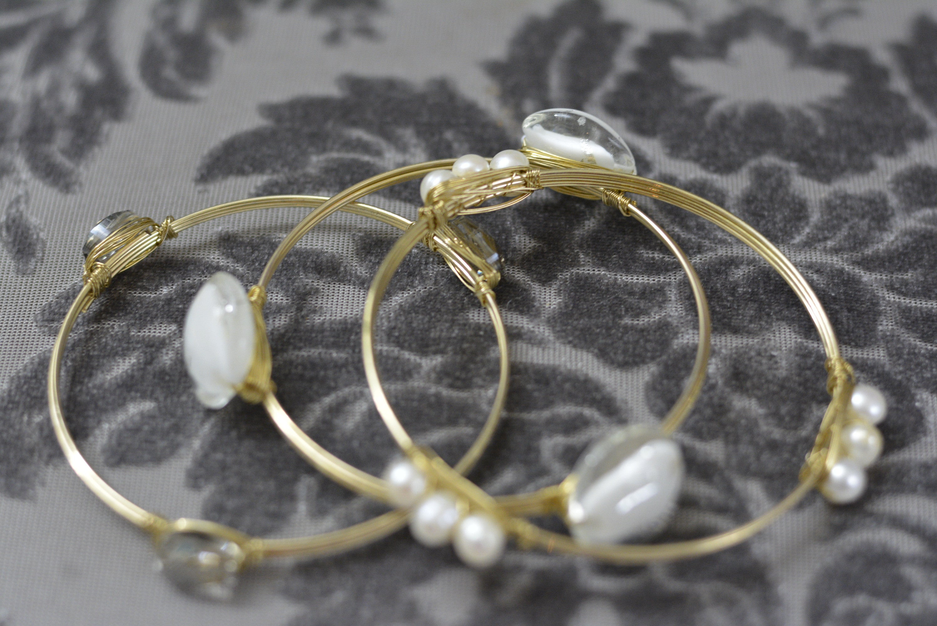 GEMMA - 3 Bangle Wire Bracelet