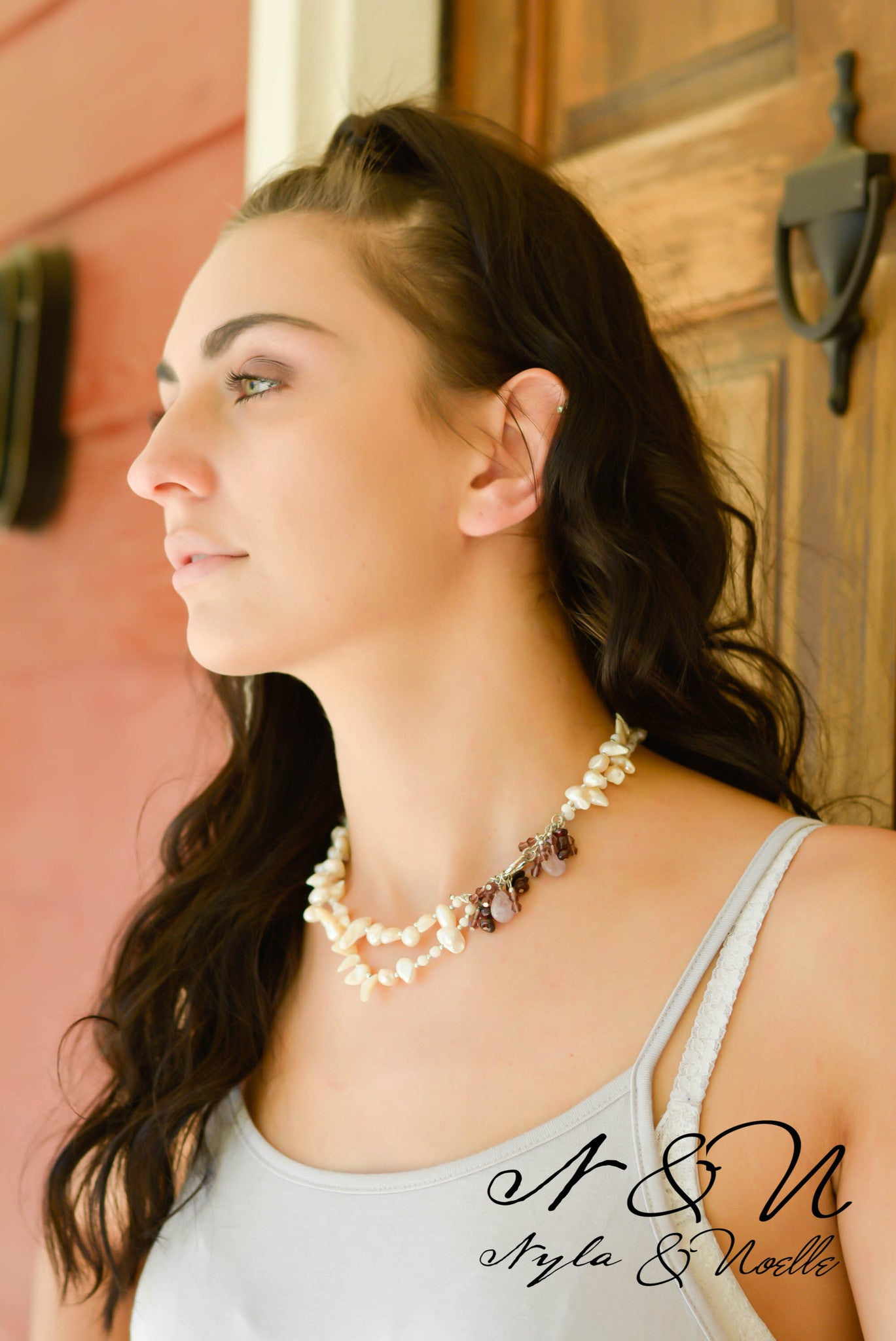 VINTAGE PEARL - Semi Precious Fresh Water Pearl Necklace