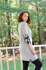 BEA - Plaid Accented Everyday Comfort Dress