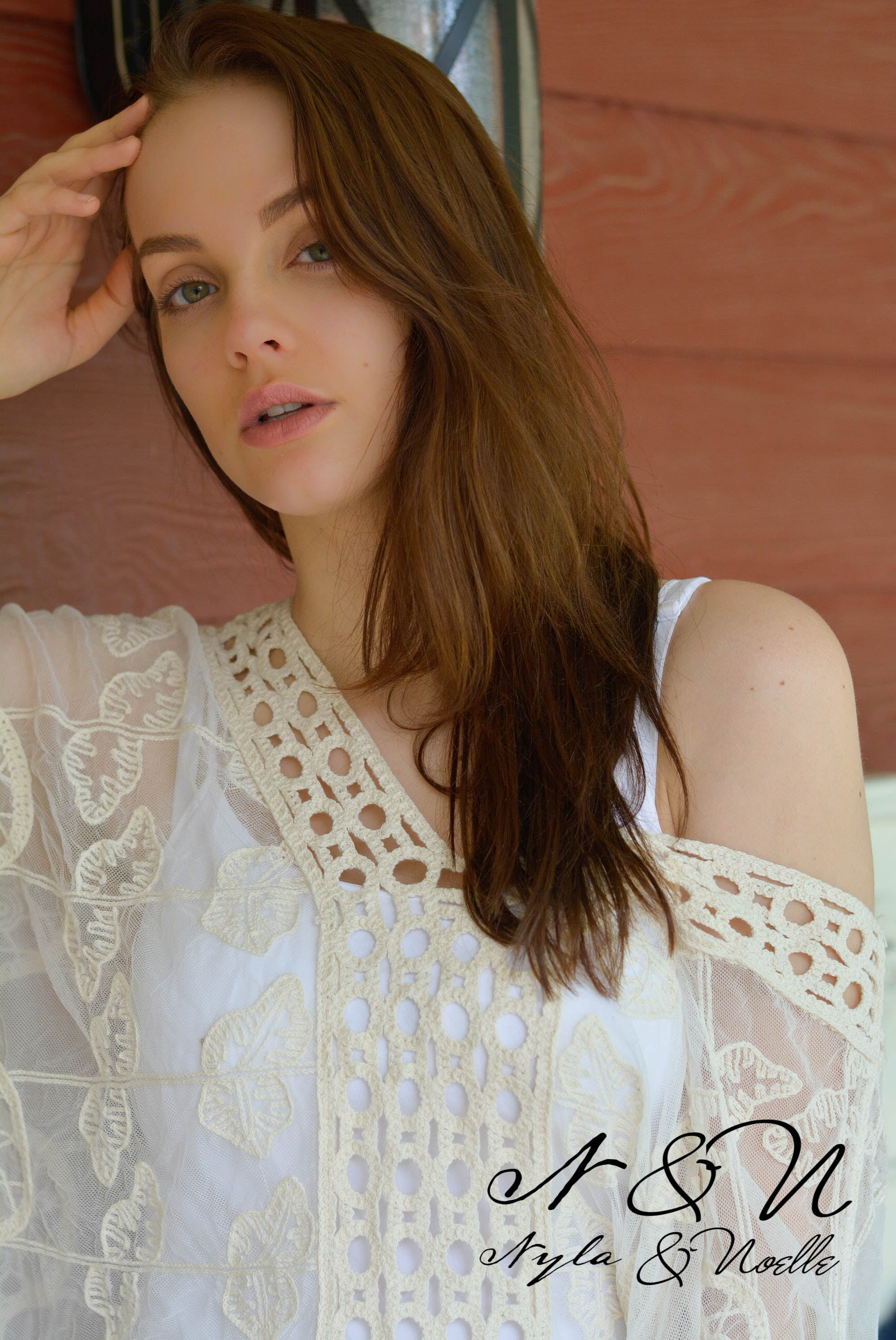 MAKARA - Ivory Sheer Embroidered Boho Poncho Style Top