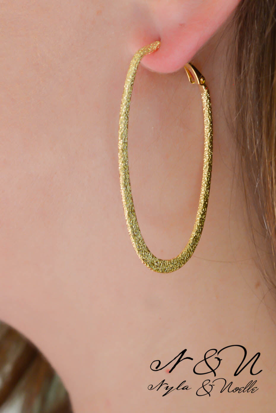 MARLISSA - Gold Tone Faux Druzy Tear Drop Earrings