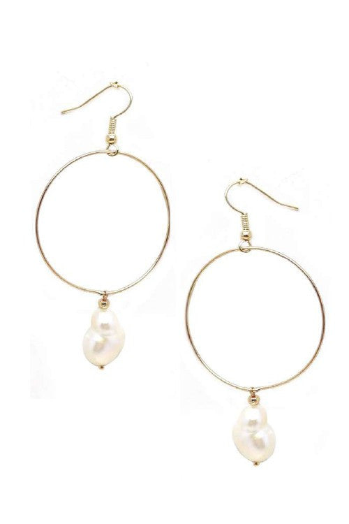 PEARL DROP - Fresh Water Pearl Pendant Earring
