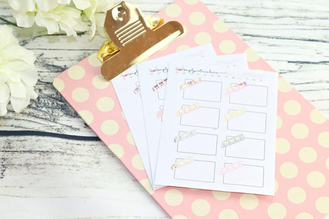 FOIL Bow Washi Quarter Box (Gold, Rose Gold, Silver)