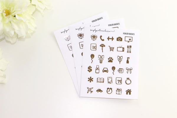FOIL Icons Sampler (Gold, Rose Gold, Silver Foil)