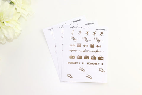 FOIL Workout Sampler (Gold, Rose Gold, Silver Foil)