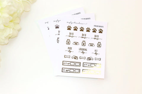 FOIL Dog/Pet Sampler (Gold, Rose Gold, Silver Foil)