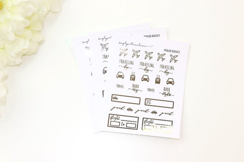 FOIL Travel Sampler (Gold, Rose Gold, Silver Foil)
