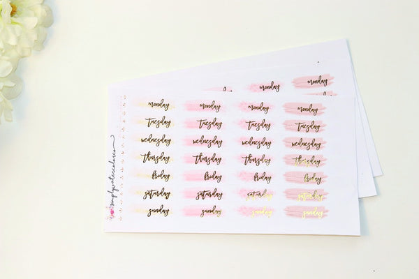 FOIL DateCoverups //  All About Pink Colorway (Gold, Rose Gold, Silver)