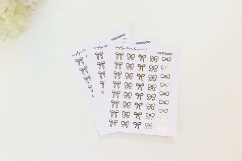 FOIL Bow Sampler (Gold, Rose Gold, Silver Foil)
