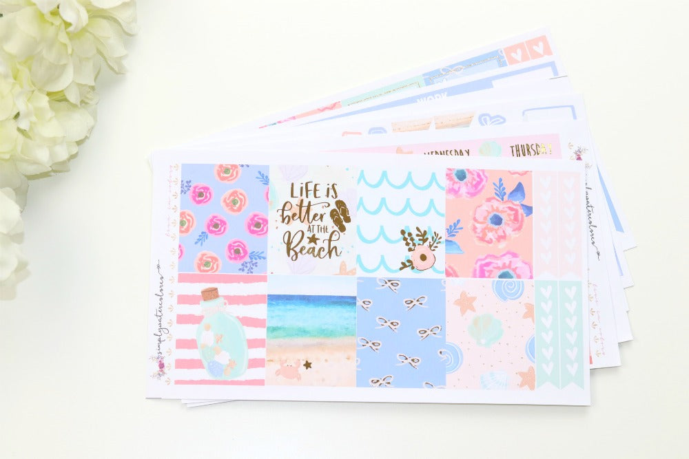 FOIL Carolina Deluxe Kit (Gold Foiled) // ECLP Planner Stickers
