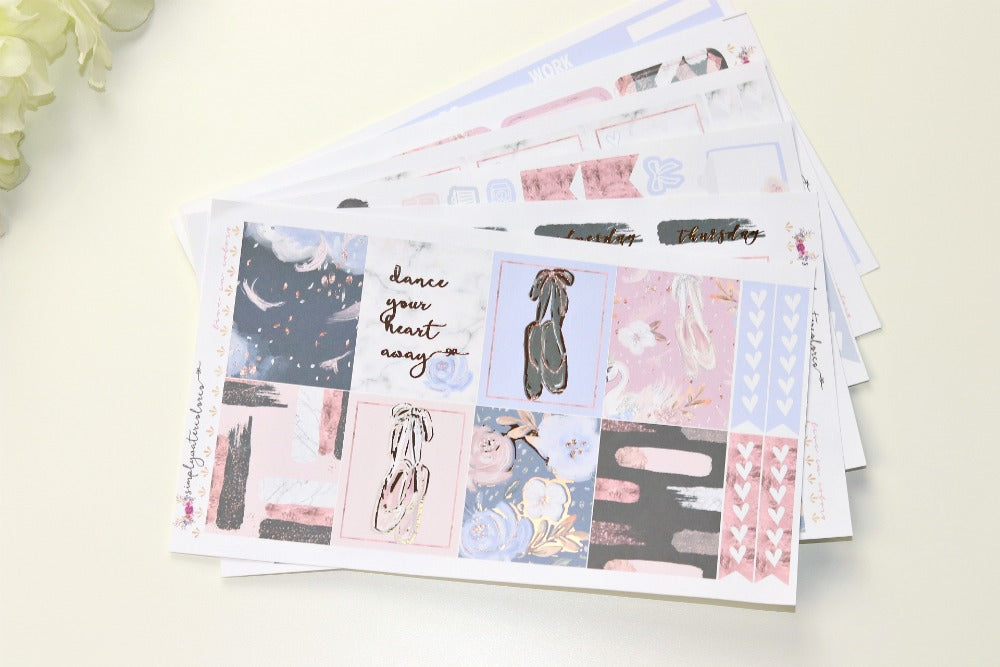 FOIL Mina Deluxe Kit (Rose Gold Foiled) // ECLP Planner Stickers