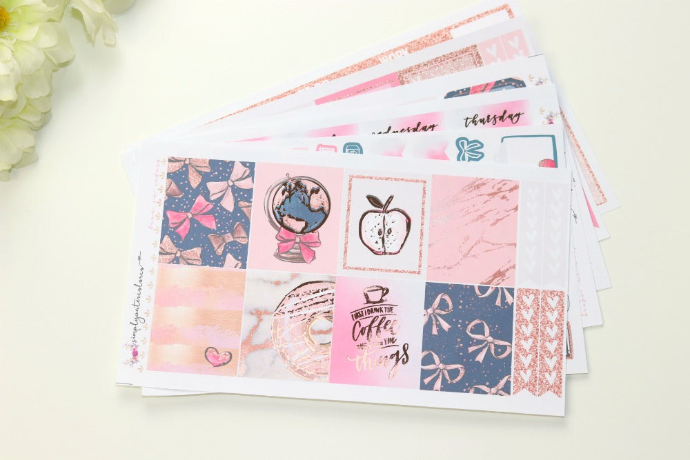 FOIL Madison Deluxe Kit (Rose Gold Foiled) // ECLP Planner Stickers