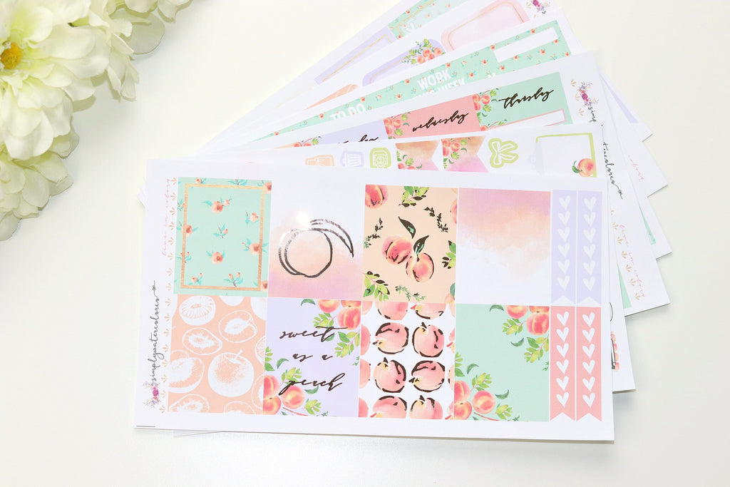FOIL Georgina Deluxe Kit (Rose Gold Foiled) // ECLP Planner Stickers