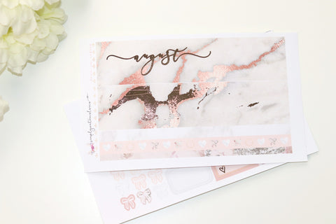 FOIL Aug Monthly Notes (Rose Gold Foil)
