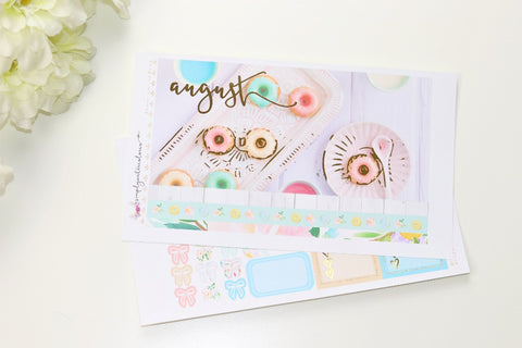 FOIL Aug Monthly Notes (Gold Foil)