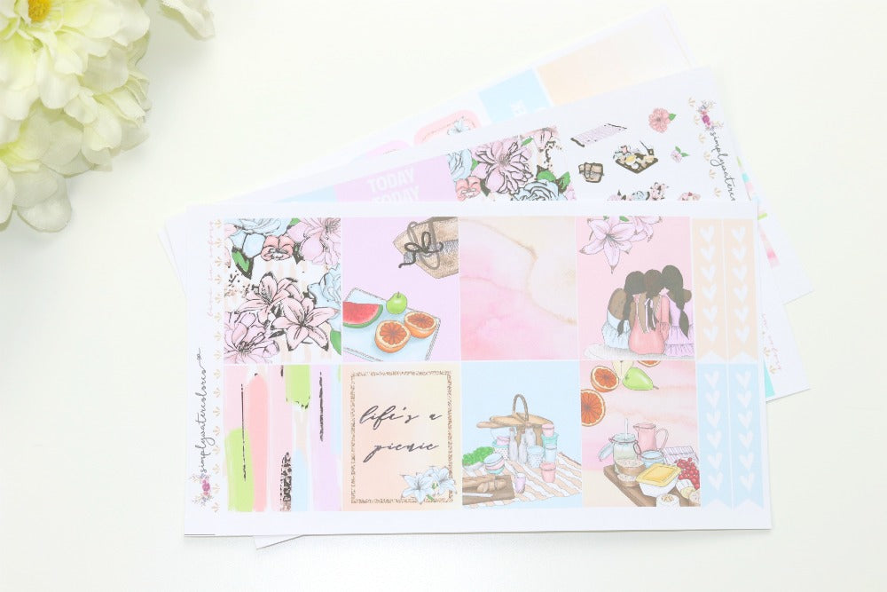 FOIL Sylvia MINI Kit (Silver Foiled) // ECLP Planner Stickers