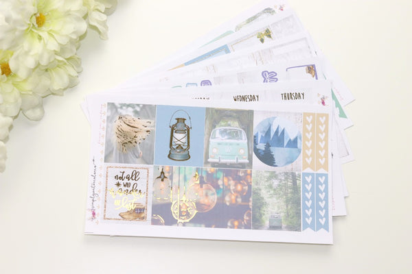 FOIL Wander Deluxe Kit (Gold Foiled) // ECLP Planner Stickers