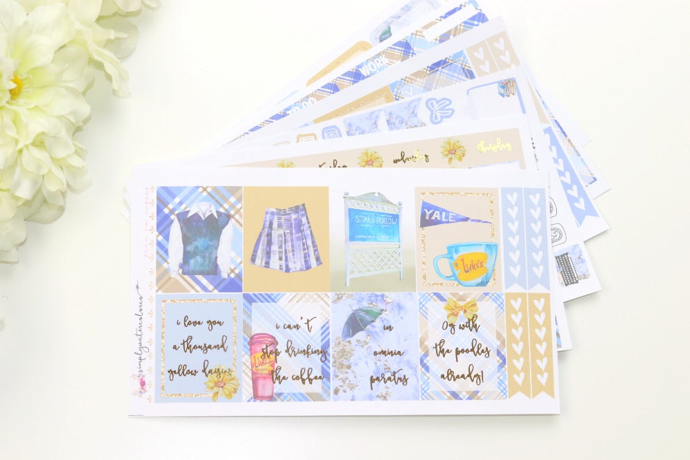 FOIL Rory Deluxe Kit (Gold Foiled) // ECLP Planner Stickers