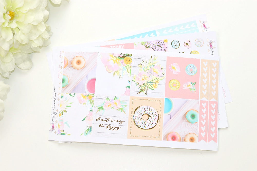 FOIL Happy MINI Kit (Gold Foiled) // ECLP Planner Stickers