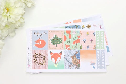 FOIL Foxy MINI Kit (Gold Foiled) // ECLP Planner Stickers