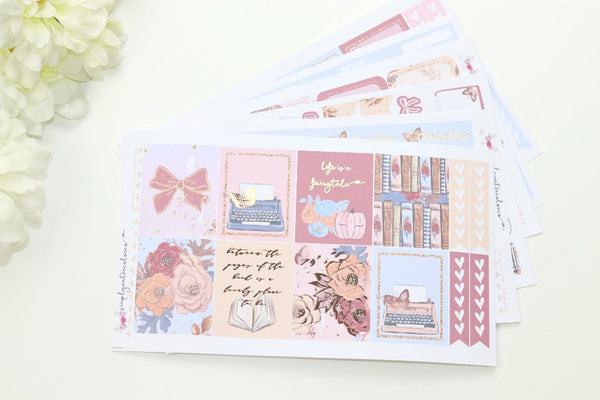 FOIL Fairytale Deluxe Kit (Rose Gold Foiled) // ECLP Planner Stickers