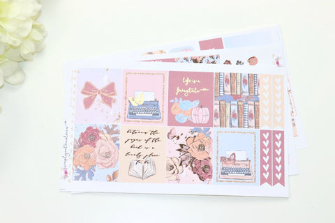 FOIL Fairytale MINI Kit (Rose Gold Foiled) // ECLP Planner Stickers
