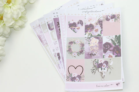 FOIL Wild Deluxe Kit (Rose Gold Foiled) // ECLP Planner Stickers
