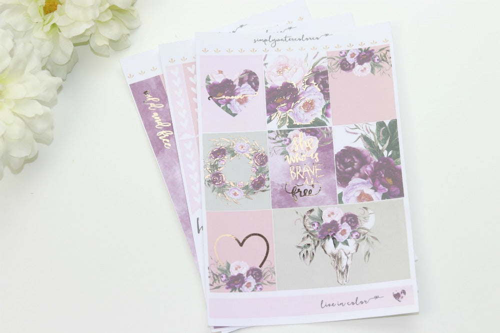 FOIL Wild MINI Kit (Rose Gold Foiled) // ECLP Planner Stickers