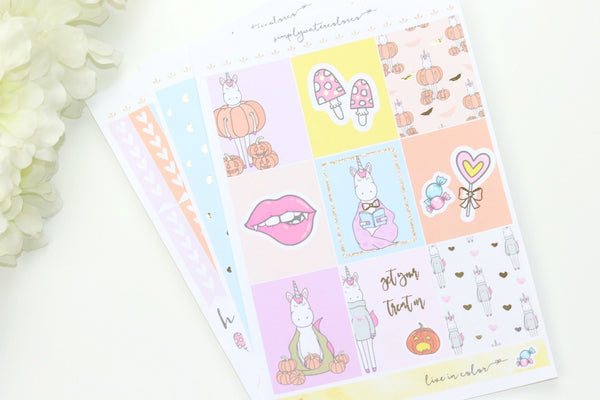 FOIL Haley MINI Kit (Gold Foiled) // ECLP Planner Stickers