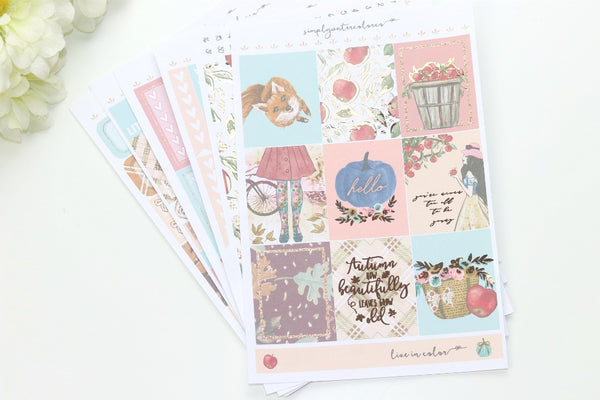 FOIL Greta Deluxe Kit (Rose Gold Foiled) // ECLP Planner Stickers