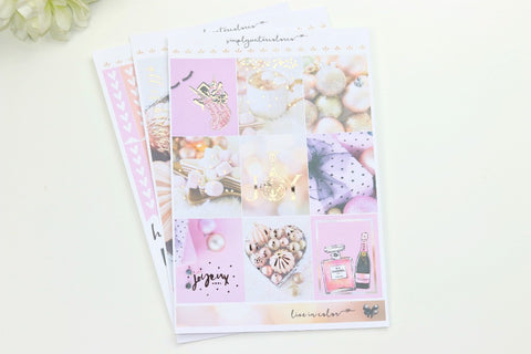 FOIL Joy MINI Kit (Rose Gold Foiled) // ECLP Planner Stickers