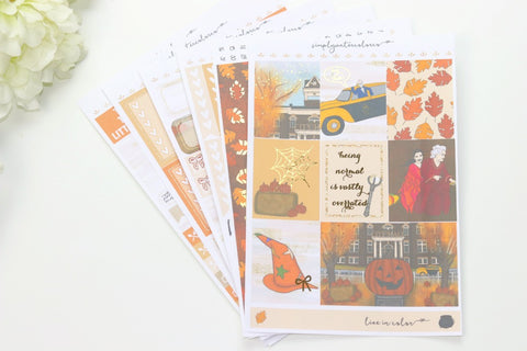FOIL HalloweenTown Deluxe Kit (Gold Foiled) // ECLP Planner Stickers