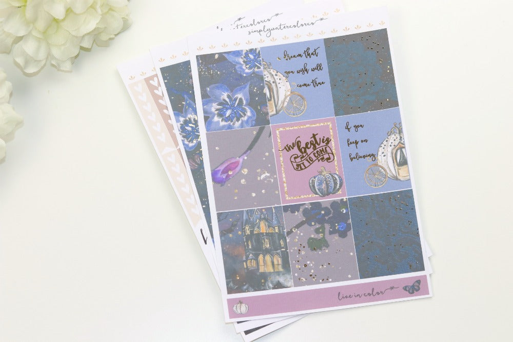 FOIL Midnight MINI Kit (Rose Gold Foiled) // ECLP Planner Stickers