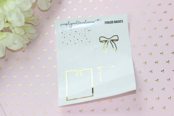 FOIL CLEAR Bow Overlays (Gold, Rose Gold, Silver) NO COUPONS