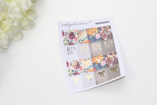 FOIL Fall Floral + Sweater Confetti// Bow Flags (OVERSTOCK)