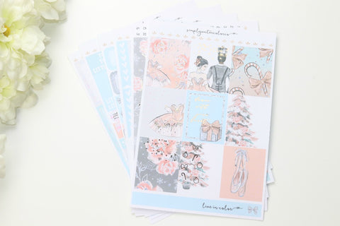 FOIL Clara Deluxe Kit (Rose Gold Foiled) // ECLP Planner Stickers