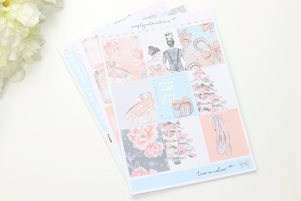 FOIL Clara MINI Kit (Rose Gold Foiled) // ECLP Planner Stickers