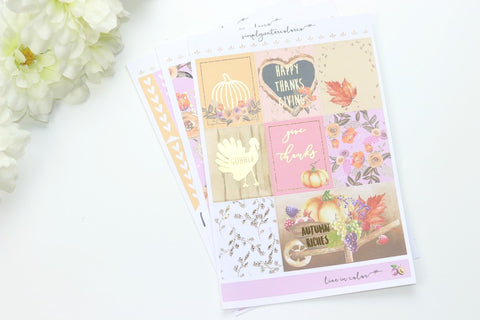 Gracelynn FOIL MINI Kit (Gold Foiled) // ECLP Planner Stickers