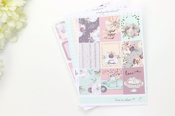 FOIL Elizabeth MINI Kit (Gold Foiled) // ECLP Planner Stickers