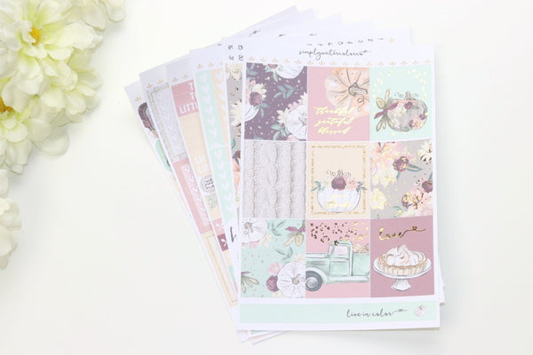 FOIL Elizabeth Deluxe Kit (Gold Foiled) // ECLP Planner Stickers
