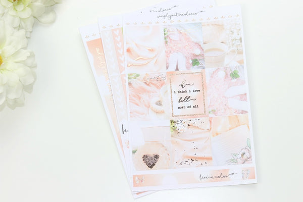 FOIL Aug SUB KIT MINI Kit (Rose Gold Foiled) // ECLP Planner Stickers