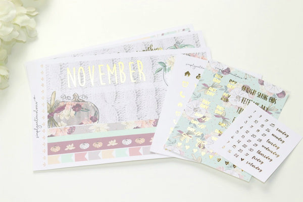 FOIL November Monthly Spread (Gold Foil)