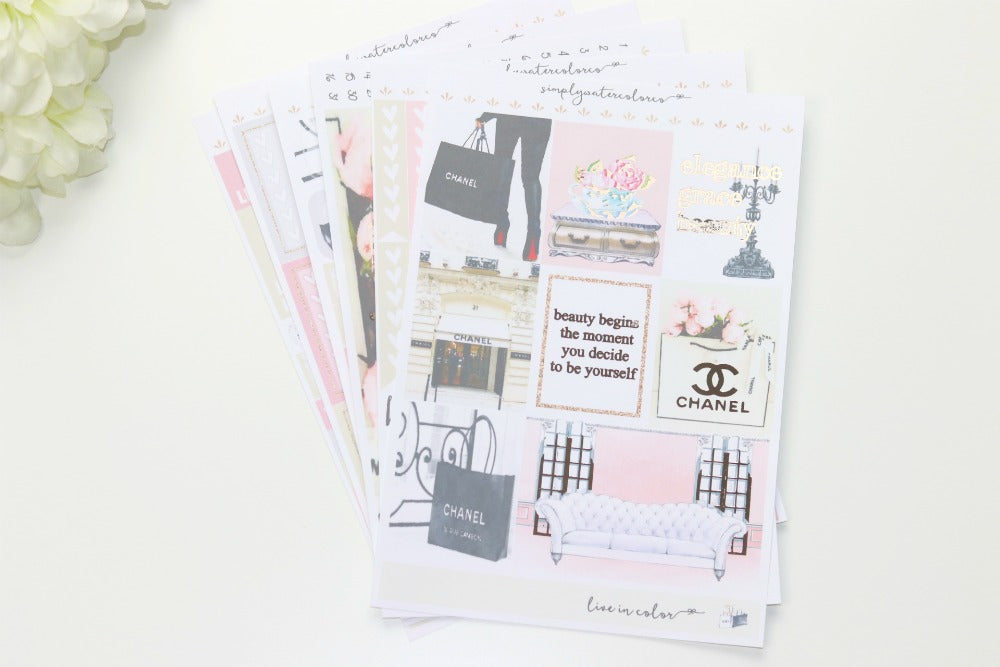 Grace FOIL Deluxe Kit (Rose Gold Foiled) // ECLP Planner Stickers