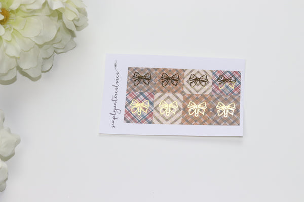 FOIL Mad About Plaid // Bows (Gold, Rose Gold, Silver) NO COUPONS