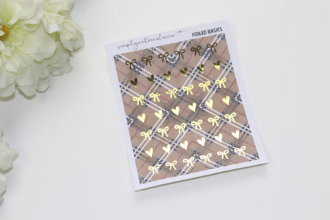 FOIL Mad About Plaid // Bow + Heart Icons (Gold, Rose Gold, Silver) NO COUPONS