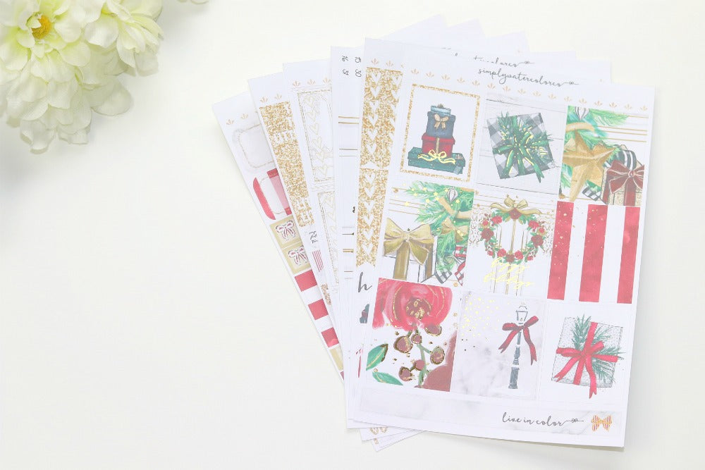 FOIL Glam Deluxe Kit (Gold Foiled) // ECLP Planner Stickers